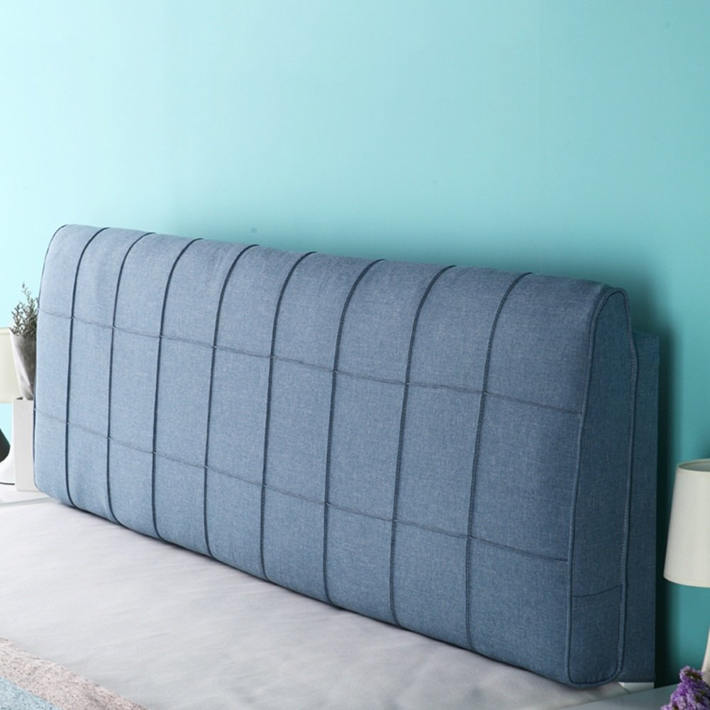 1  With headboard-190cm WENZHE Upholstered Fabric Headboard Bedside Cushion Pads Cover Bed Wedges Backrest Waist Pad Cloth Art Pillow Multifunction Large Back Washable Do Not Fade, There Is Headboard   No Headboard, 5 colors, 5 Sizes ( color   4  , Size