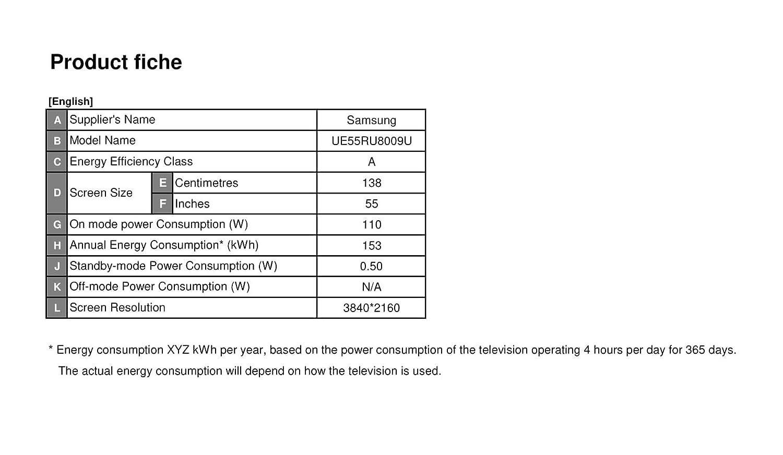 Samsung RU8009 138 Cm (55 Zoll) LED Fernseher (Ultra HD