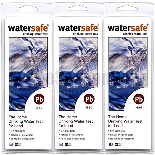 Watersafe 3X WS-207 Lead in Home Tap Drinking Water Test Kit, Single Use per Package. by Water Safe