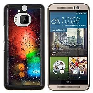 Colores Bokeh- Metal de aluminio y de plástico duro Caja del teléfono - Negro - HTC One M9+ / M9 Plus (Not M9)