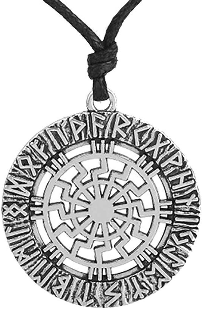 My Shape Nordic Runes amuleto Sun Pendant Necklace Pagan Wheel amuleto Gioielli Gift