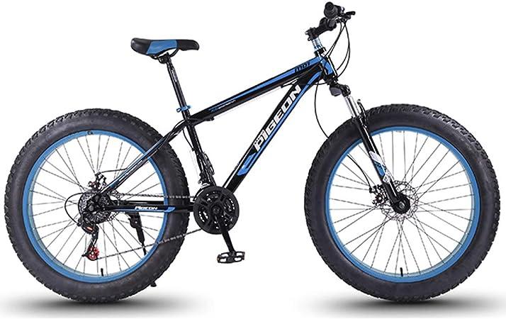 NENGGE 24 Velocidades Bicicleta Montaña, Adulto 27.5 Pulgadas Neumático Gordo Bicicleta BTT, Doble Freno Disco, Hard Tail Bicicleta,Azul: Amazon.es: Hogar