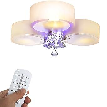 Deckenlampen Fã¼R Wohnzimmer | Yorbay Led Kristall Deckenleuchte Deckenlampe E27 Rbp Licht Mit