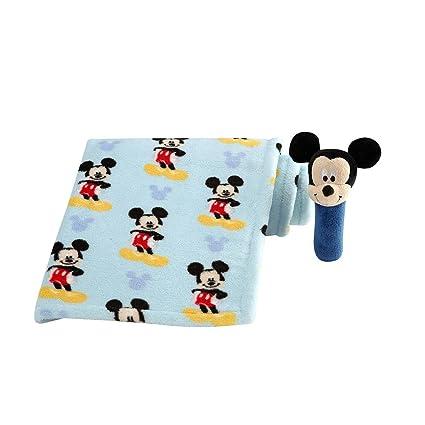 Disney Baby – Sonajero de Mickey Mouse – Manta de bebé con Stick