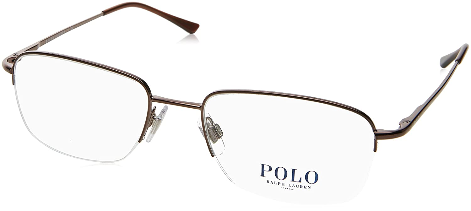 Amazon.com: Polo Men\'s PH1001 Eyeglasses Brown 53mm: Shoes
