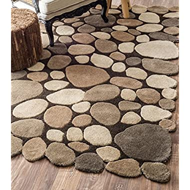 nuLOOM Hand Tufted Pebbles Rug, Natural