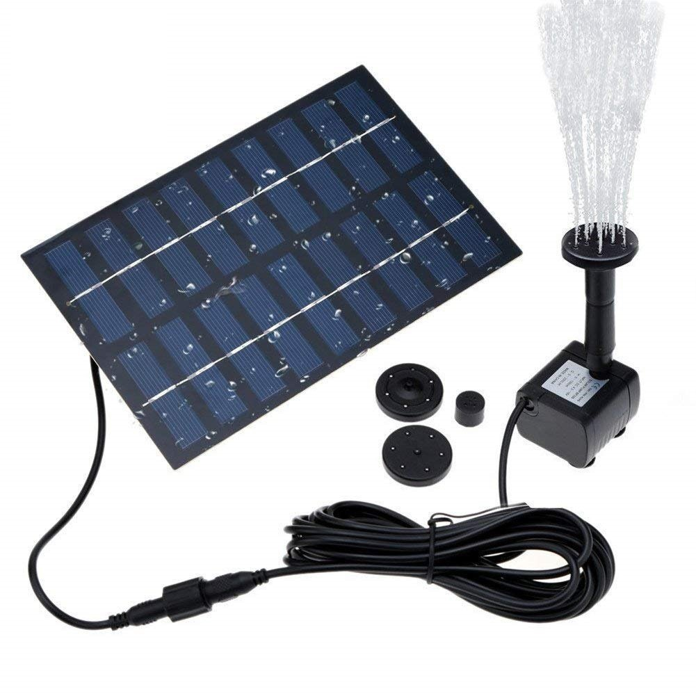 COSSCCI Solar Fountain Water Pump for Bird Bath Solar Outdoor Fountain for Small Pond, Patio Garden (Square)