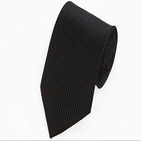 Goodvk Corbata de Hombre Lazo Formal Negro Puro del Negocio del ...