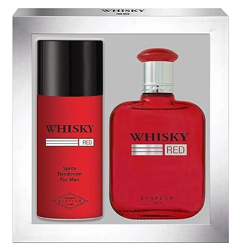 WHISKY Red • Coffret Eau de Toilette 100ML + Déodorant 15OML • Vaporisateur  • Spray • Parfum Homme • Cadeau • EVAFLORPARIS d99a13296c3