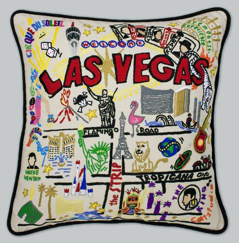 Catstudio Las Vegas Pillow - Geography Collection Home Décor 111(CS) by Catstudio Embroidered Pillow
