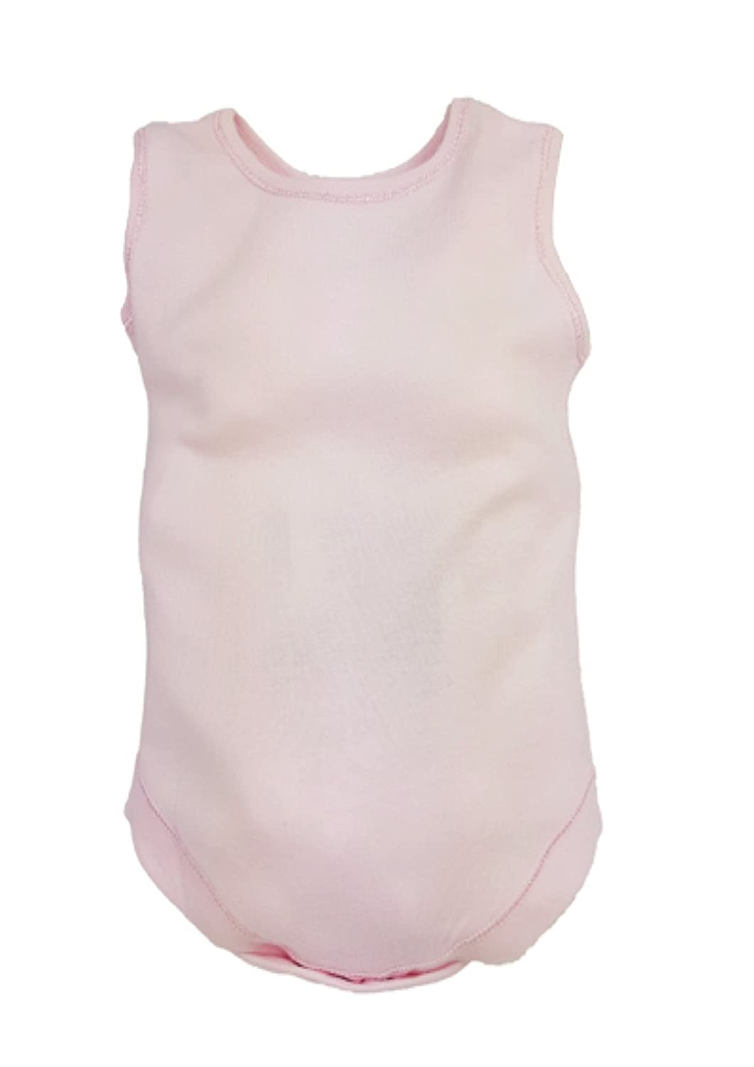 Mini munchkin 6 Rompers Pink Plain Sleeveless Body Vests Rompers