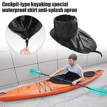 Universal Fit Waterproof Kayak Spray Deck Skirt Paddling Accessories S Gray
