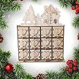 OUYAWEI Party Festival Decor Wooden Christmas Advent Calendar House Decor DIY Wedding Ornaments Jewelry Box