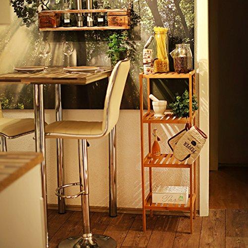 Relaxdays 10013497 estanter a bamb para ba o 4 niveles for Estanteria bano amazon