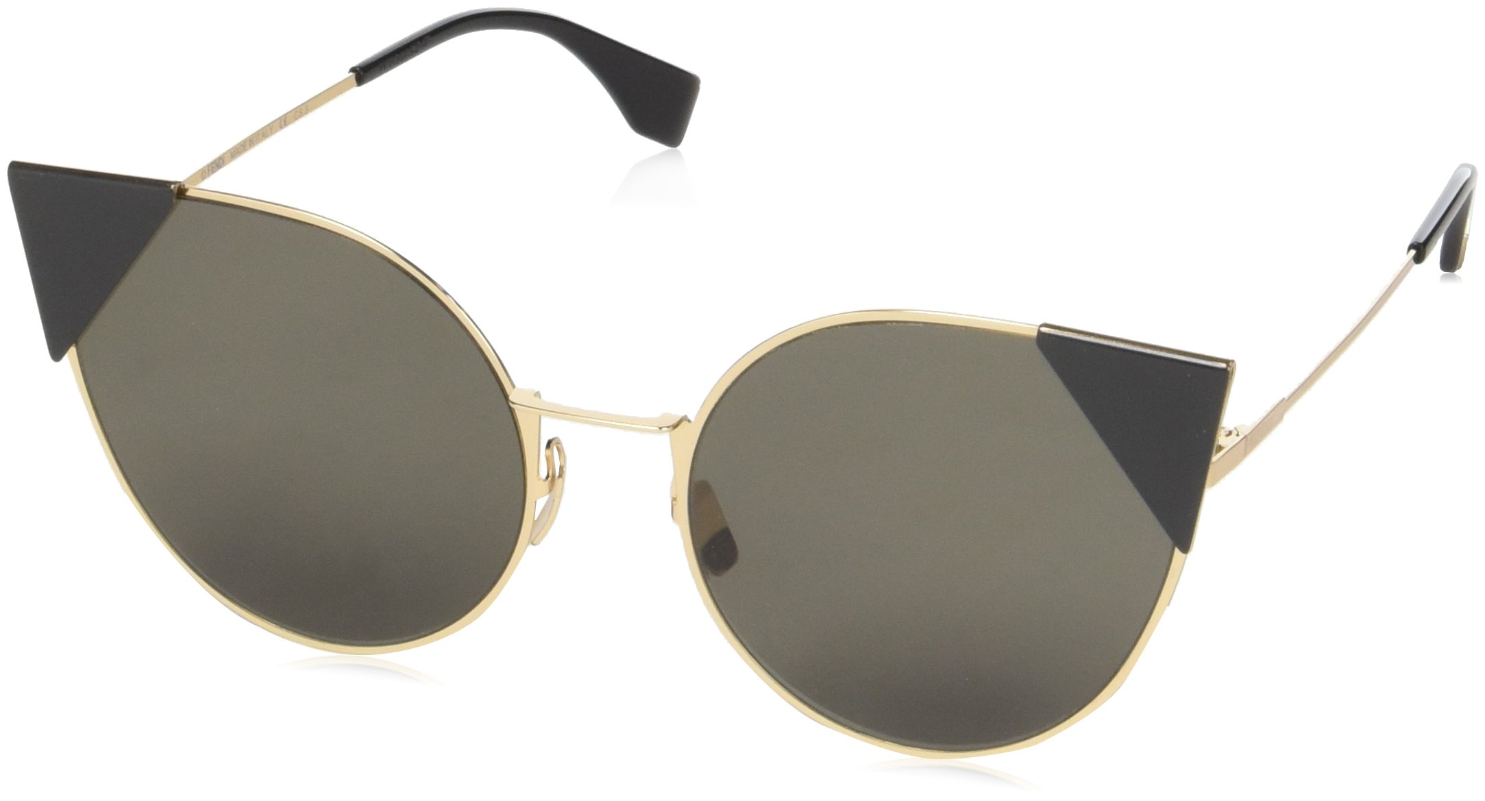 Fendi Women's Arrow Accent Sunglasses, Rose Gold Black/Black, One Size