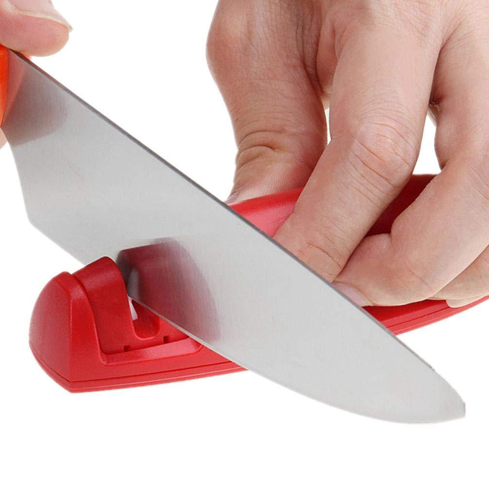 Mini afilador de cuchillos portátil, de cerámica, afiladores ...