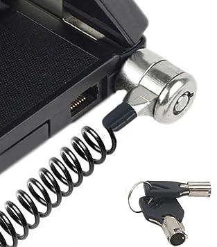 Portátil Cable Lock Bloqueo de Seguridad Candado con Cable antirrobo para portátil portátiles y Otros Dispositivos: Amazon.es: Electrónica