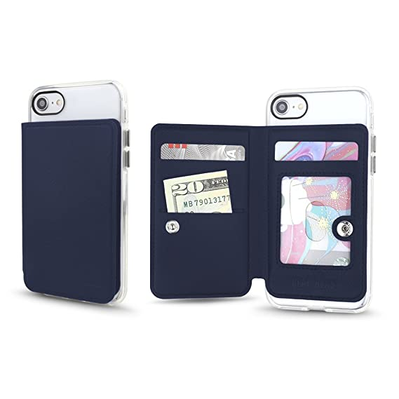 buy popular 079f7 f8e95 Gear Beast Universal Cell Phone Stick On Slim Wallet Card Holder Phone  Pocket Case for iPhone, Galaxy, Android & Other Smartphones with Three  Credit ...