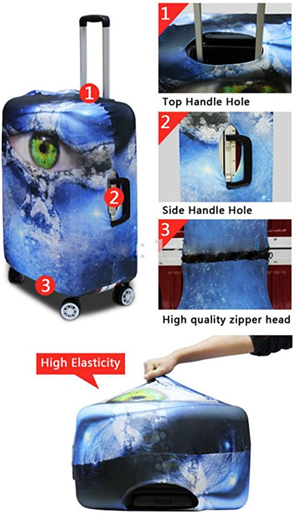 Sannovo Skull Print Azrael Travel Luggage Protective Covers for Baby Suitcase