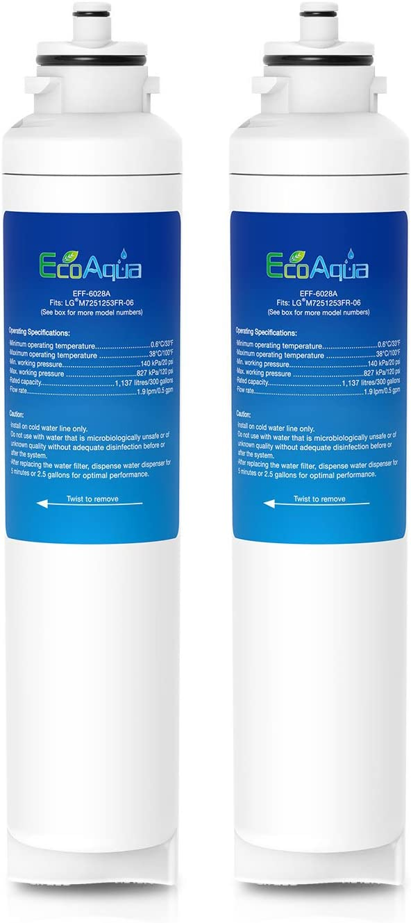 EcoAqua EFF-6028A - Filtro de refrigeración para LG M7251253F-06 ...