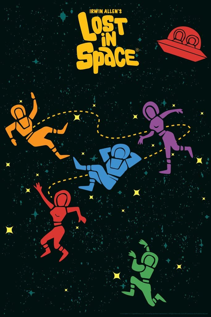 Lost in Space Floating Cast TV Show Cool Wall Decor Art Print Poster 12x18