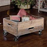 Reclaimed Wood Rolling Box the Stratford Collection serving-carts