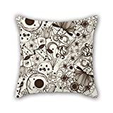 PILLO flower pillowcase 18 x 18 inches / 45 by 45 cm for home theater,teens,club,boys,wife,teens girls with twice sides