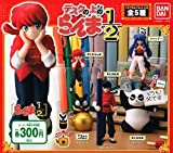 Ranma 1/2 full set of 5 Mini on the desk