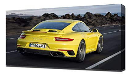 Lilarama USA 2017 Porsche 911 Turbo S V4 - Canvas Art Print - Wall Art -