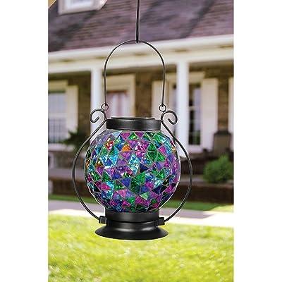 Carson Jewel Tones Mosaic Lantern
