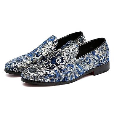 DAN Mocasines Para Hombres Bordados Calzado Casual Zapatos Para Hombres Zapatos De Cuero Mocasines Zapatos Antideslizantes Para Caminar: Amazon.es: Ropa y ...
