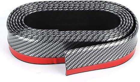 Universal Fit carbon-fiber auto spoiler anteriore labbro splitter lato gonna spoiler da tetto 100/% protezione impermeabile nero + rosso