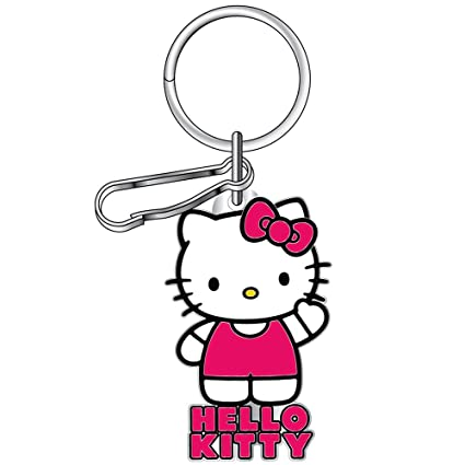 074b196d8 Amazon.com: LA Auto Gear Hello Kitty Core Waving Sanrio Car Truck SUV  Pocket Chrome Metal Enamel Key Chain: Automotive