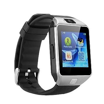 NICERIO Bluetooth reloj inteligente DZ09 Smartwatch GSM tarjeta SIM con cámara para teléfonos Android IOS (