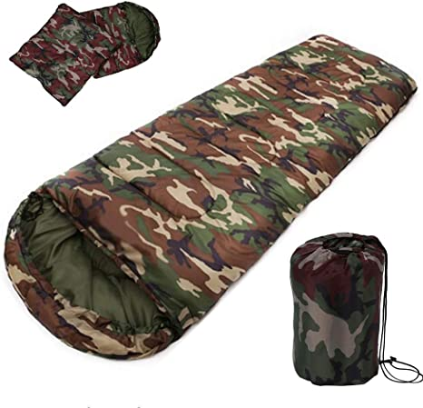 SOLVHK Saco de Dormir algodón acampa Saco de Dormir, 15~5 Grados ...