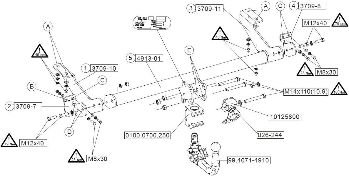 RDSOV 06//09-10//16 Bosal Oris Attelage Peugeot 3008