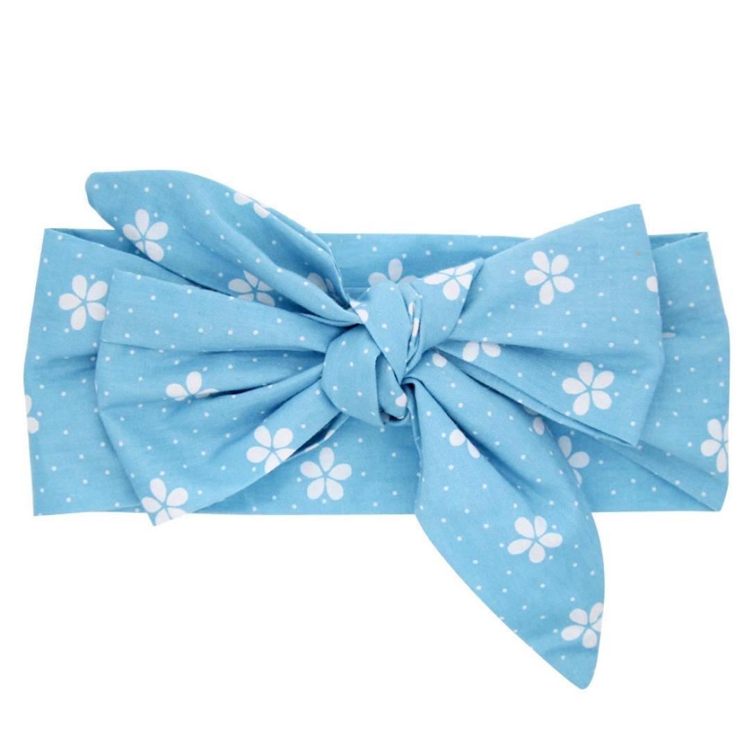 Baby Mädchen Baumwolle Schleife Stirnbänder Haarband Neugeborenes Haarschleife