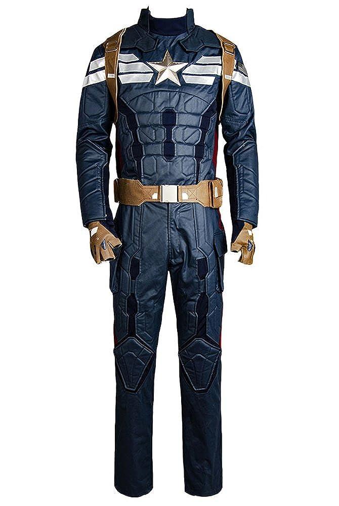 Captain America 2 The Winter Soldier Steve Rogers Uniform Outfit Cosplay Kostuem B012RUFNNO Kostüme für Erwachsene Ab dem neuesten Modell  | Sehr gelobt und vom Publikum der Verbraucher geschätzt
