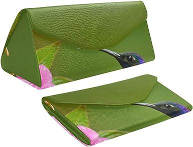 Estuche plegable para gafas de sol Estuche Beautiful Elf Hummingbird Triangle Estuche de gafas de cuero Pu Cuero con cierre de imán Estuche Anteojos: Amazon.es: Ropa y accesorios