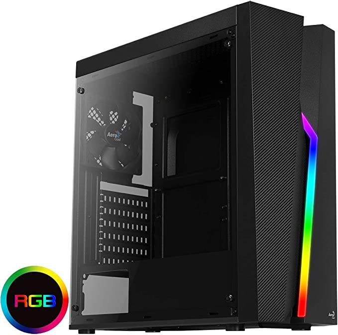 Aerocool BOLT - Caja de PC, ATX, panel acrílico, RGB 13 modos, ventilador 12cm, color Negro, Única: Aerocool: Amazon.es: Informática