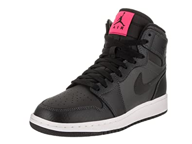 Nike Jordan Kids Air 1 Retro High GG Anthracite/Black Black Basketball Shoe 4 Kids US