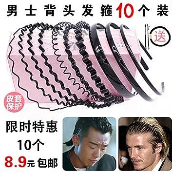 South Korean men s hair band headband sports headband men and head back  wavy hair bands issuing 2b10a27838b