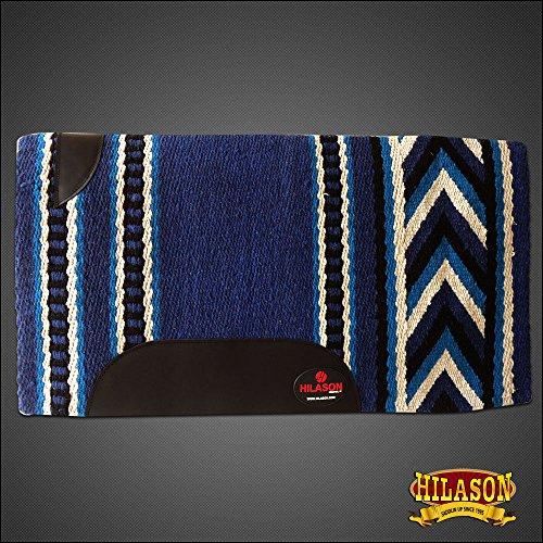 (HILASON Western New Zealand Wool Saddle Blanket Blue Turquoise White)