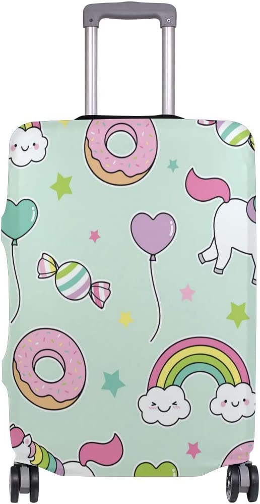 FOLPPLY Cute Pastel Balloon Unicorn Pattern Luggage Cover Baggage Suitcase Travel Protector Fit for 18-32 Inch