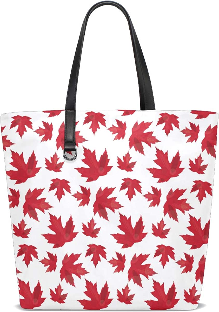 Macro Autumn Maple Bokeh Nature Leaves Branches Tote Bag Purse Handbag For Women Girls