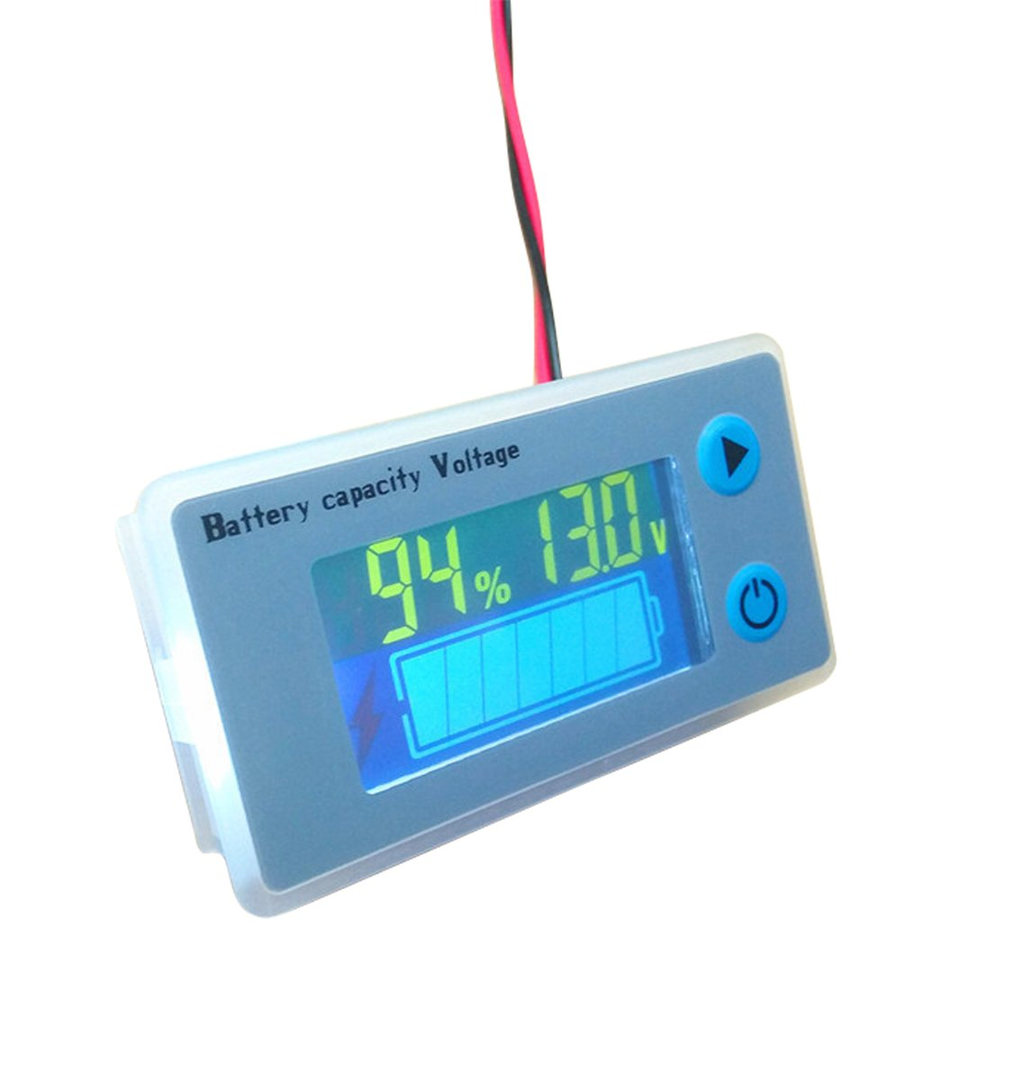 Multifunction 12V LCD Lead Acid Battery Capacity Meter Voltmeter with Temperature Display Battery Fuel Gauge Indicator Voltage Monitor cleanpower