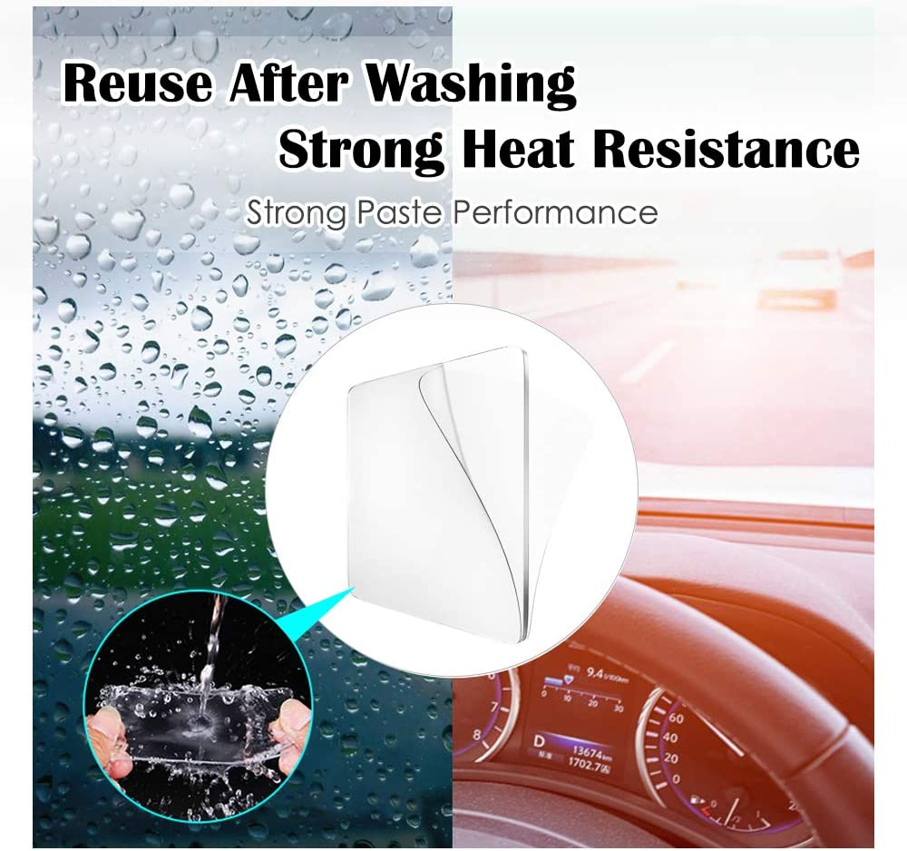 Metal Reusable Traceless,Stick to Glass Kitchen Cabinets or Tile Nano Tape Limvoo Sticky Gel Pads-10Pcs,Removable Double Sided Super Grip Transparent Washable /& Reusable Up to 10000Times