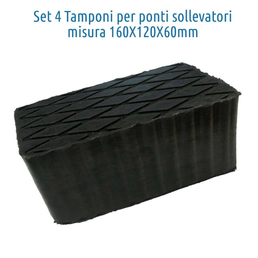 Set 4pcs bloc de caoutchouc 160x120x60mm. pour pont elevateur Corghi Ravaglioli Omcn … TAMPONS