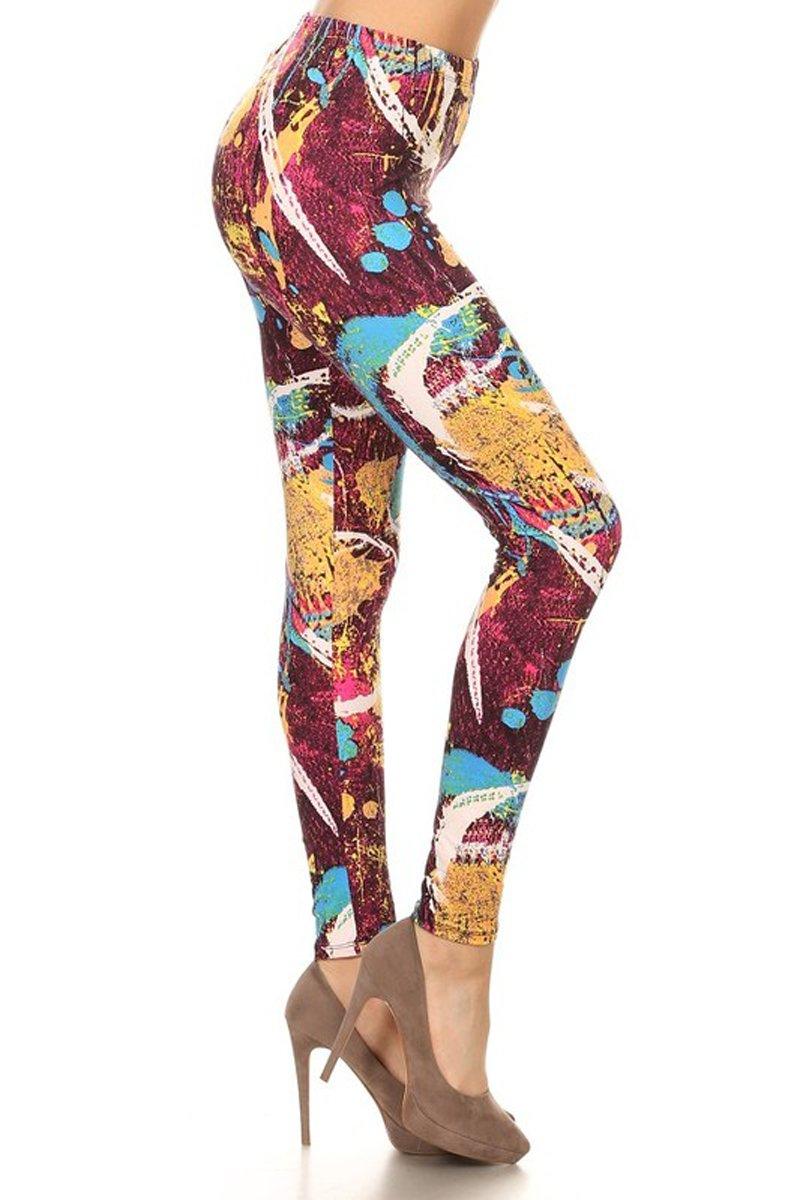 Leggings Depot Ultra Soft Regular Printed Fashion Leggings (Regular (Size 0-12) 61Kl30unBoL