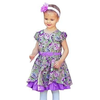 f84bed67d26ea Amazon.com: Clothful 💓 Children Kids Girls Short Sleeve Button ...